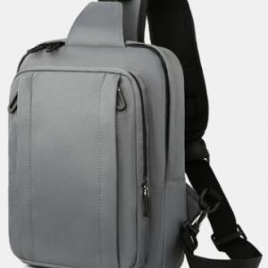 Men Nylon Large Capacity Waterproof Multi-Pocket Chest Bags Shoulder Bag Crossbody Bags discountshub