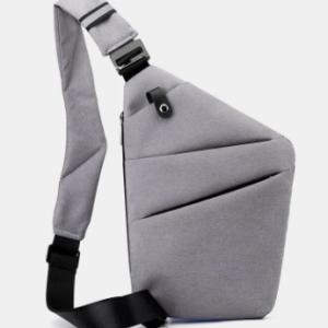 Men Polyester Waterproof Anti-theft Travel Crossbody Bag Chest Bag Sling Bag discountshub