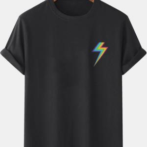 Mens Rainbow Weather Symbol Graphic Casual 100% Cotton Short Sleeve T-Shirts discountshub