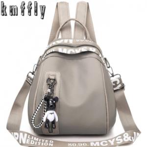 New Waterproof Nylon Women Backpack Zipper School Bags For Teenagers Girls Small Pendant Backpack Female Multifunction Rucksack discountshub
