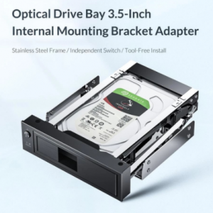 ORICO Hard Drive Caddy 2.5 to 3.5 inch Stainless Internal Hard Drive Mounting Bracket Adapter 3.5 inch SATA HDD Mobile Frame discountshub
