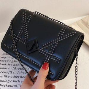 Quality Women Small Shoulder Bag Ladies Handbag - Black discountshub