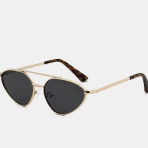Unisex Metal Full Frame UV Protection Cat-eye Frame Fashionable Simple Sunglasse discountshub