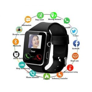 X6 Curved Screen Bluetooth Smart Watch Phone Mate With Camera discountshub
