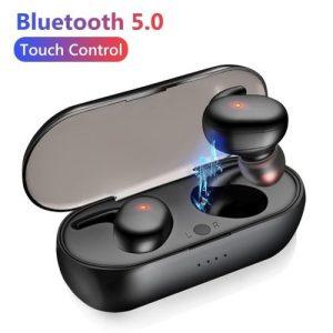 Y30 T W SFingerprint Touch Bluetooth 5.0 Earphones Wireless Stereo Headphones discountshub