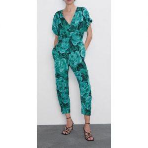 Zara Floral Print Jumpsuit discountshub