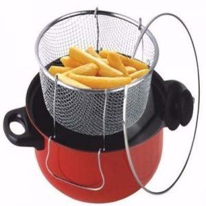 3-in-1 Non-stick Deep Fryer with Frying Basket-Premium Quality discountshub