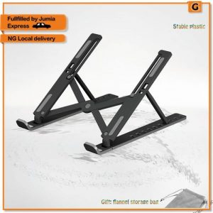 ABS Laptop Stand Desktop Bracket Can Be Folded Up And Down To Receive Portable Radiator discountshub