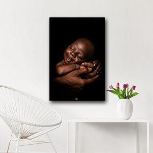 Awesome Cute Black Baby Wall Canvas discountshub