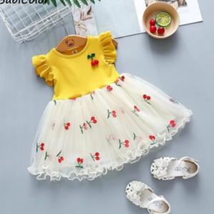 Baby girls summer wedding dresses newborn baby fashion cotton lace princess party dress for bebe girls toddler birthdays clothes discountshub