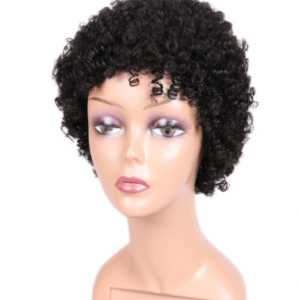 FAVE Short Afro Wig Spiral Curl Human Hair Wigs For Black Women Remy Brazilian Hair Short Afro Kinky Curly Human Wig 6.5 Inches discountshub