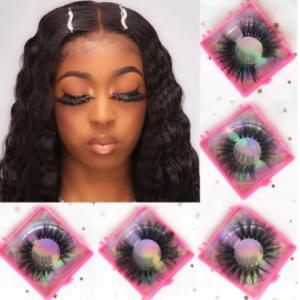 Fake Lashes Mink 25mm 3D Full Strip Eyelashes Wholesale False Eyelashes Packaging Fake Lashes Vendors Mink Eyelashes Bulk 1 Pair discountshub