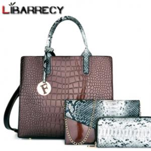 Fashion Sequined Letter Tassel Handbag for Women High Quality Serpentine Patent Leather Travel Shoulder Crossbody Bag Female Sac discountshub