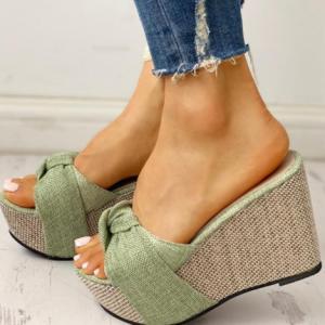 Free Gift Feet Chain Slip On Leisure Platform Summer Sandals 2020 Wedges High Heels Women Shoes Woman Mules Flip Flops discountshub