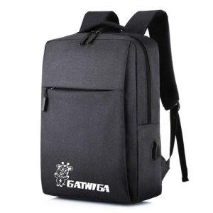 GATWIGA Black Casual Bag Business Laptop Backpack discountshub