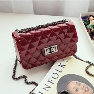 House Of Dollymix Fashion Ladies Mini Jelly/Rubber Handbags- Wine discountshub