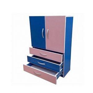 Hrm Baby Wardrobe with Adjustable Interior Shelves discountshub