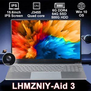 LHMZNIY 15,6 '' Intel J3455 Quad Core 6G DDR4 64G SSD 500G HDD discountshub