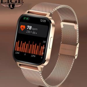 LIGE New Color Screen Smart Watch Women men Full Touch Fitness Tracker Blood Pressure Smart Clock Women Smartwatch for Xiaomi discountshub