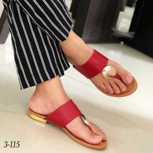 Ladies Casual Slippers-Red discountshub