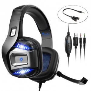 Professional Gamer Headset Led Light 3D Wired Headphone For PS4 PS5 Fifa 21 Xbox Laptop PC Gaming Headphones Noise Reducetion discountshub