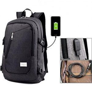 Tedgear Flr1 Anti Theft Bag + Password Lock + Headset Jack & USB Charging Port- Black discountshub