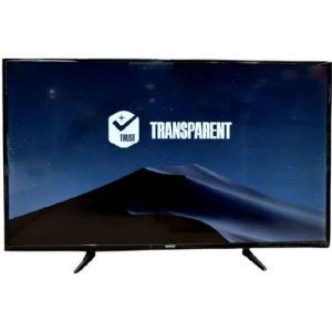 "Transparent ''55"" Inch 4K Ultra-HD Smart LED TV (with 27 Months Official Warranty) - Black discountshub"