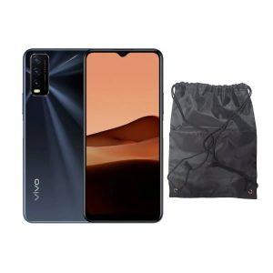 Vivo Y20 Obsidian Black - 4gb Ram, 64gb Rom + drawstring bag discountshub