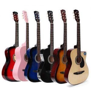 """Acoustic Box Guitar With Bag, And Pick 38"""" discountshub"""