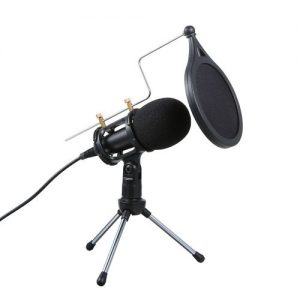 Condenser Microphone Audio 3.5mm With Stand For PC Phone discountshub