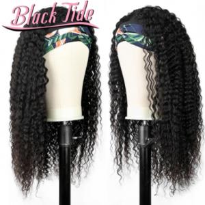 Curly Headband Wig Brazilian Headband Wig Human Hair Kinky Curly Head Band Wigs Human Hair 150% Remy Headband Wigs For Women discountshub