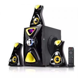 Homeflower 3.1ch Powerful Audio System With Bluetooth - Hf-1209 - Black & Yellow discountshub