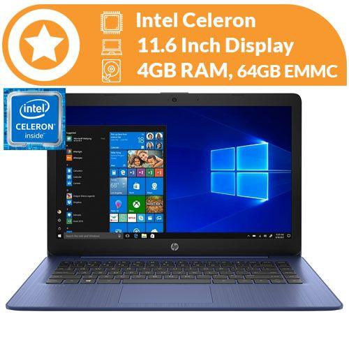 """Hp Stream 11.6"""" Celeron 4GB RAM 64GB Emmc Royal Blue Windows 10 discountshub"""