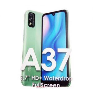"Itel A37 5.7"" HD+ Waterdrop Screen, 1GB RAM + 16GB ROM, Android 10, 3020mAh Battery, 5MP Camera, Face ID - Green + Free Case discountshub"