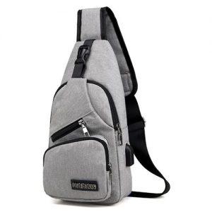 MeiJieLuo Men Casual Outdoor Travel Crossbody Bag With USB Port discountshub
