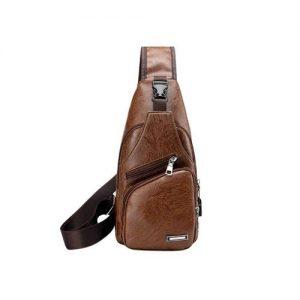 PU Fabric Casual Shoulder Bag Chest Bag Crossbody Bag discountshub