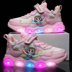 Pink Girls Shoes Kids Glitter Boots with Lights for Children Kids Fashion Baby Shoes Girls Toddler Girl Sneakers Girls Shoes discountshub
