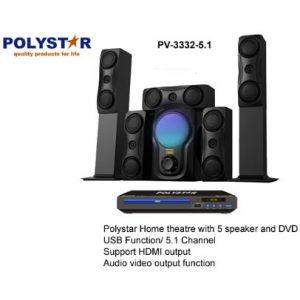 Polystar Channel Home Theatre + Dvd Player Pv-3332-5.1 discountshub