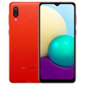 """Samsung Galaxy A02 - 6.5"""" - 64gb Rom -3gb Ram - 5000mah - Red discountshub"""