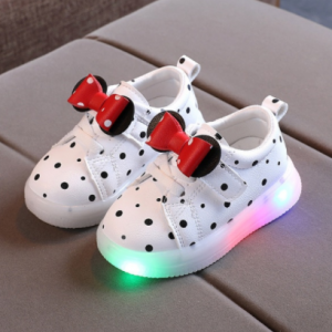 Size 21-30 Baby LED Shoes for Girls Anti-slippery Luminous Sneakers Breathable Glowing Casual Sneakers Girls Led Light Up Shoes discountshub