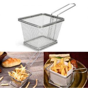 Stainless Steel Deep Frying Chips Basket discountshub