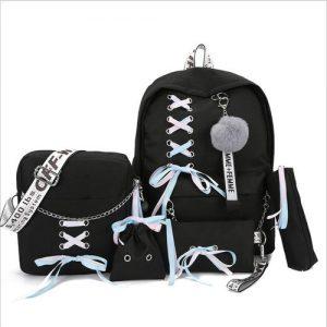 5pcs Backpack, Pen Case/Shoulder Bag/Storage Bag/Pouch - School Backpack discountshub