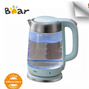 Bear 1.7L Electric Scented Coffee Teapot Fast Boiling Glass Water Boiler with LED Indicator Borosilicate Glass Tea Kettle discountshub