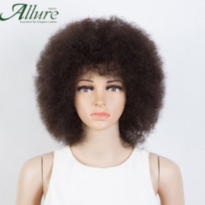 Fluffy Afro Kinky Curly Wig For Black Women Remy Brazilian Human Hair Short Sassy Human Hair Wigs Natural Brown Burgundy Allure discountshub