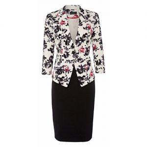 Forever Floral Designer Skirt Suit discountshub