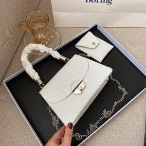 Ladies' Mini Checkered Handbag discountshub