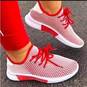 Ladies Sport Sneakers - Red discountshub