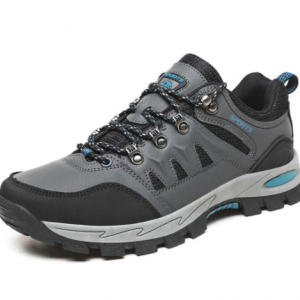 Men Comfy Lace-up Hard Wearing Rubber Sole Outdoor Hiking Shoes discountshub