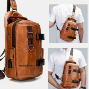 Men Multifunction Wear-resistant Waterproof Crossbody Bag Chest Bag Sling Bag discountshub