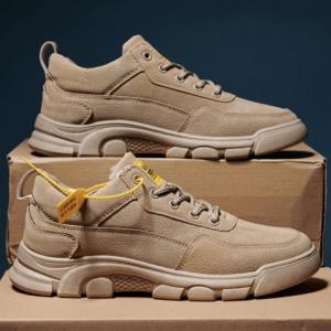 Men PU Leather Non Slip Hard Wearing Casual Work Shoes discountshub